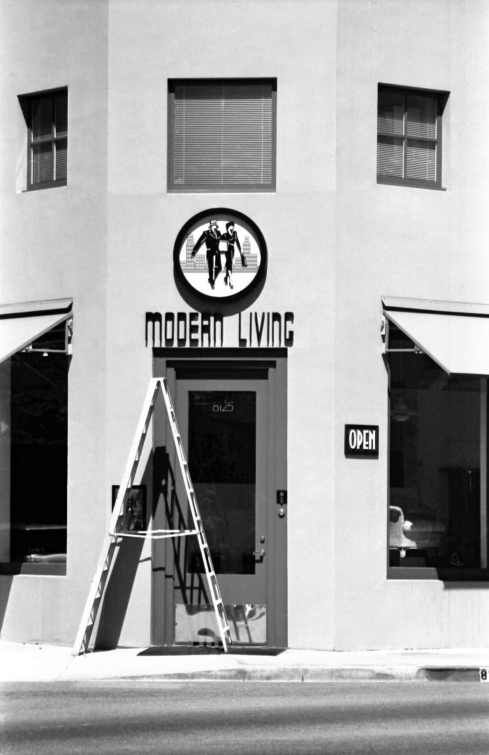 Modern living store sign