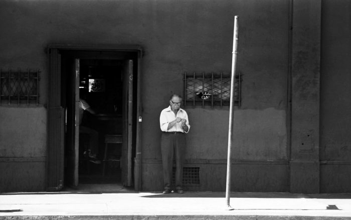 Man smoking alone in LA