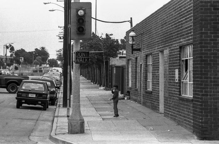 Child walking alone in LA