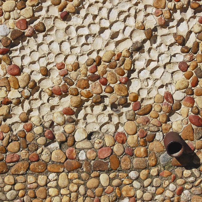 Mur de galets